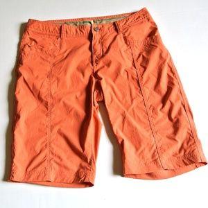 Royal Robbins Orange Hiking Shorts 8 stretch